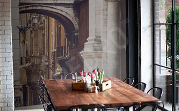 Fototapeta do kawiarni włoska uliczka