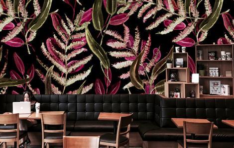 Fototapeta do kawiarni z paprocią