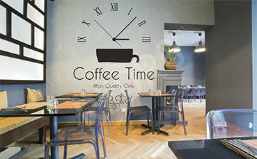 Fototapeta do kawiarni zegar