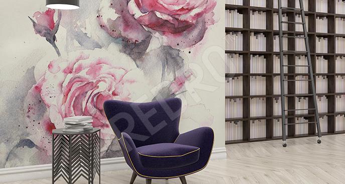 Fototapeta do księgarni róże