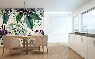Fototapeta do kuchni akwarela rośliny