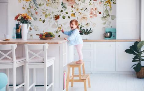 Fototapeta do kuchni – kwiatowy ogród