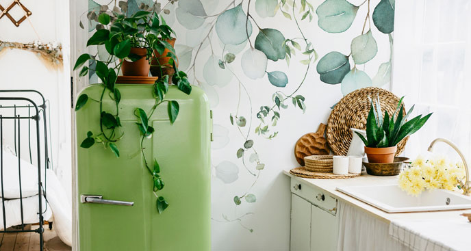 Fototapeta do kuchni - liście