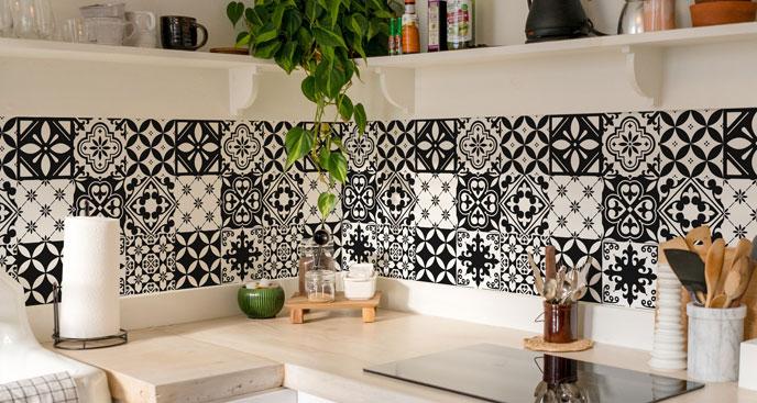 Fototapeta do kuchni – marokańskie płytki