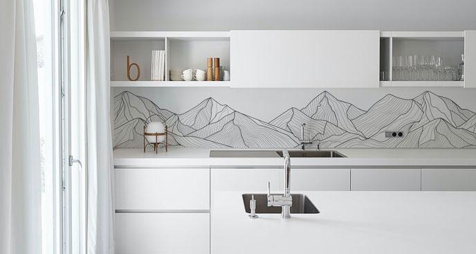 Fototapeta do kuchni minimalistyczna