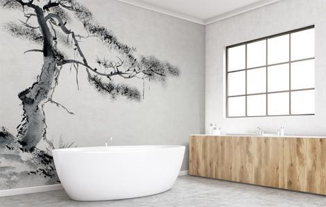 Fototapeta do łazienki drzewo
