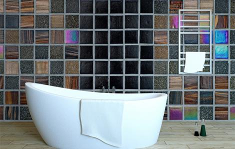 Fototapeta do łazienki mozaika