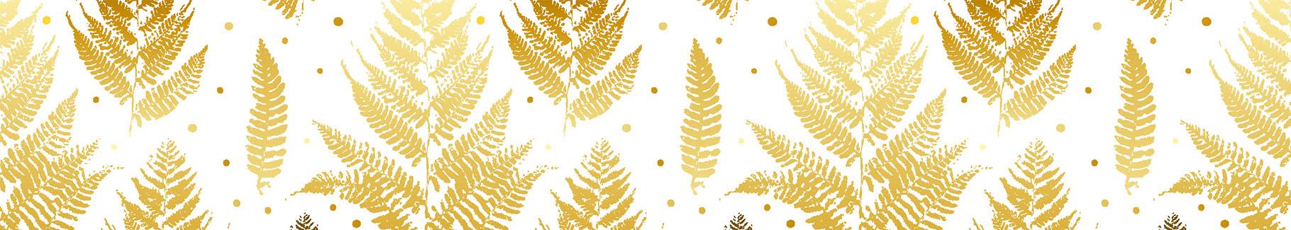 Fototapeta złote liście paproci do łazienki