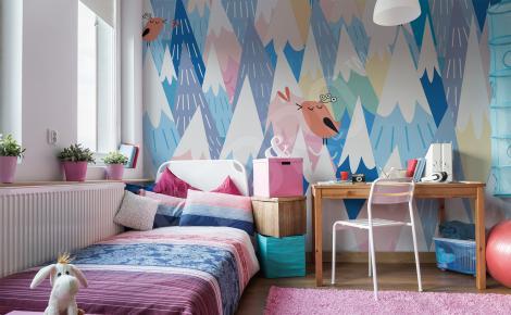 Fototapeta do pokoju dziecka kolorowe góry