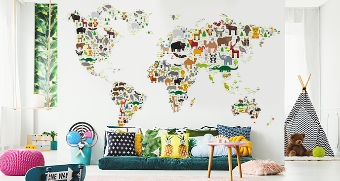 Fototapeta do pokoju dziecka – mapa
