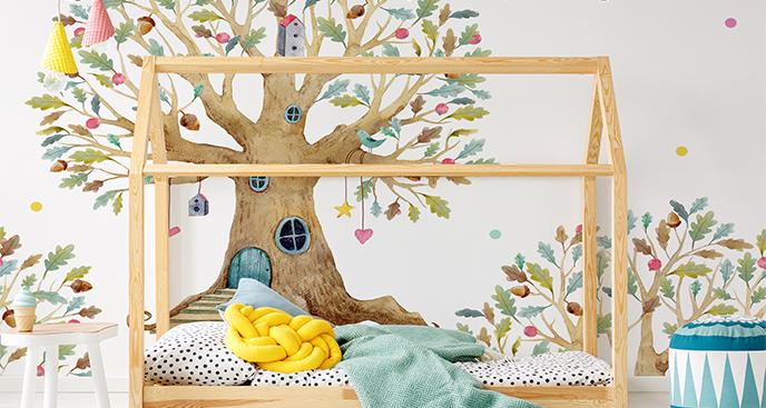 Fototapeta do pokoju dziewczynki drzewo