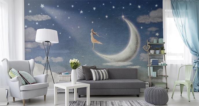 Fototapeta do pokoju dziewczynki księżyc