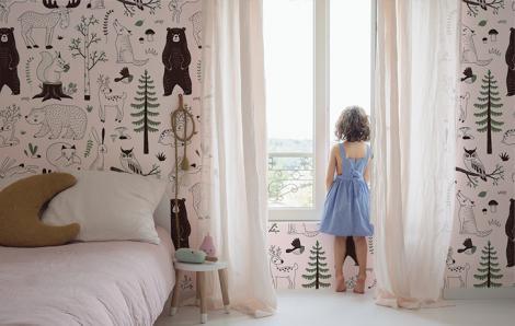 Fototapeta do pokoju dziewczynki las