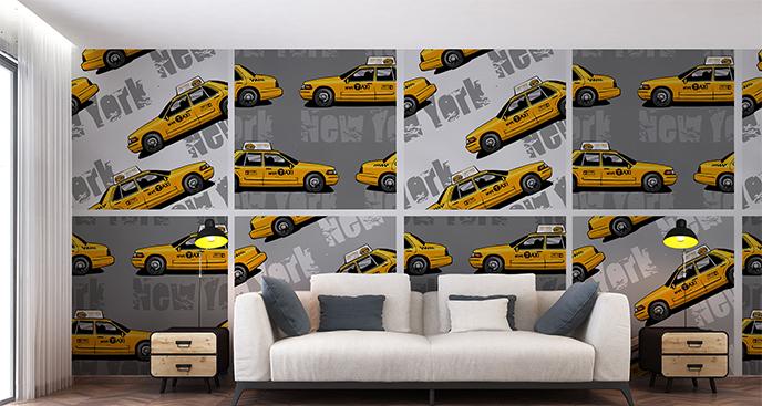 Fototapeta do pokoju nastolatka taxi