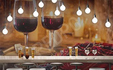 Fototapeta do restauracji czerwone wino