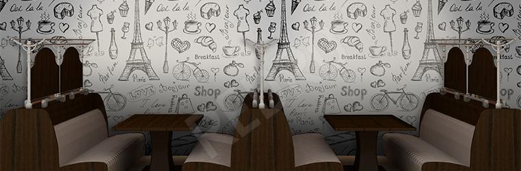 Fototapeta do restauracji Paryż
