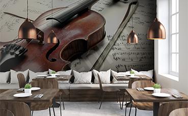 Fototapeta do restauracji skrzypce
