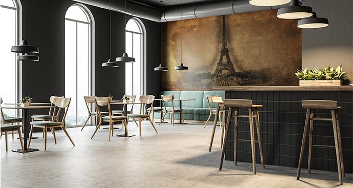 Fototapeta do restauracji - Wieża Eiffla vintage