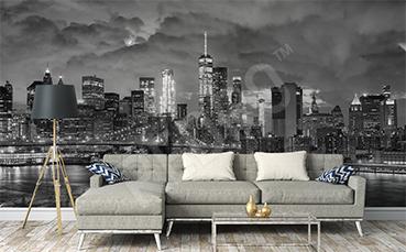 Fototapeta do salonu miasta nocą