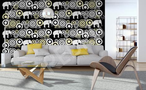 Fototapeta do salonu wzór słonie