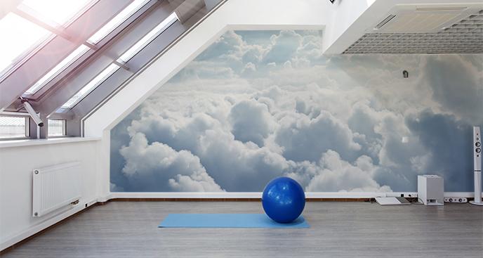 Fototapeta do siłowni – chmury
