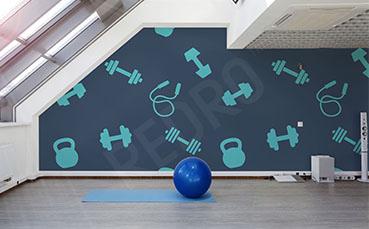Fototapeta do siłowni ilustracja