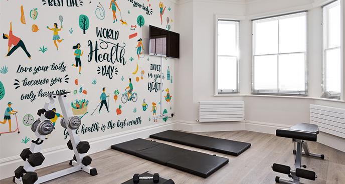 Fototapeta do siłowni – zdrowe nawyki