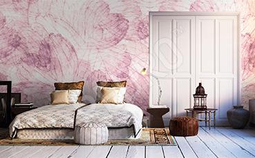 Fototapeta do sypialni różowy wzór