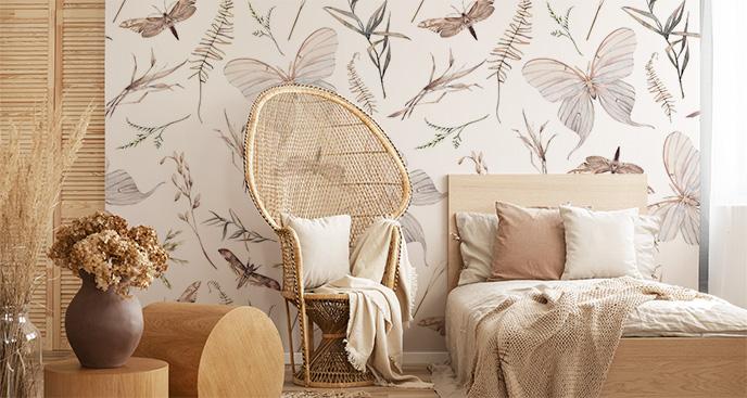 Fototapeta do sypialni z motylami