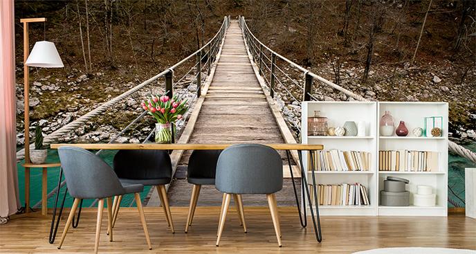 Fototapeta drewniany most w Słowenii