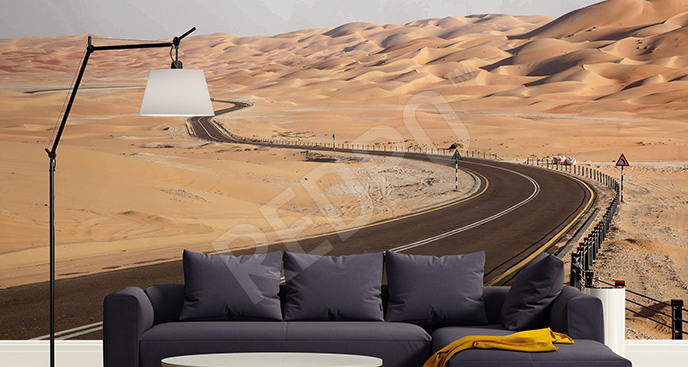 Fototapeta droga na pustyni