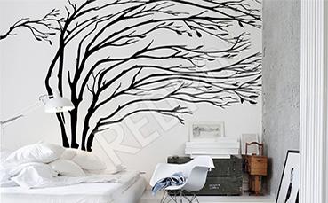 Fototapeta drzewa czarno-białe