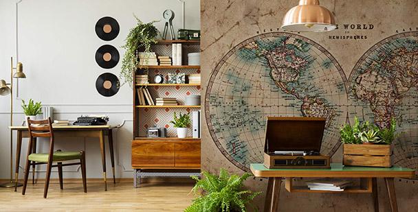 Fototapeta kontynenty na mapie