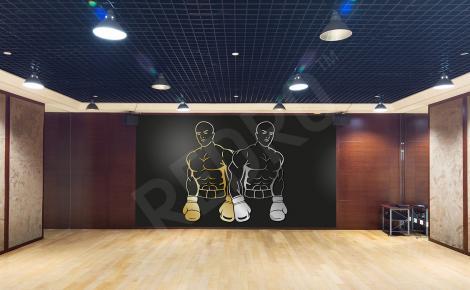 Fototapeta dwóch bokserów