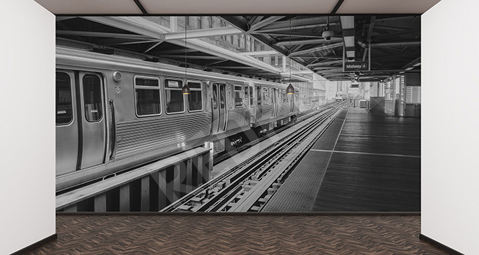 Fototapeta dworzec metra