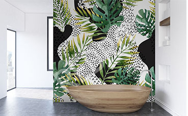 Fototapeta dżungla do łazienki