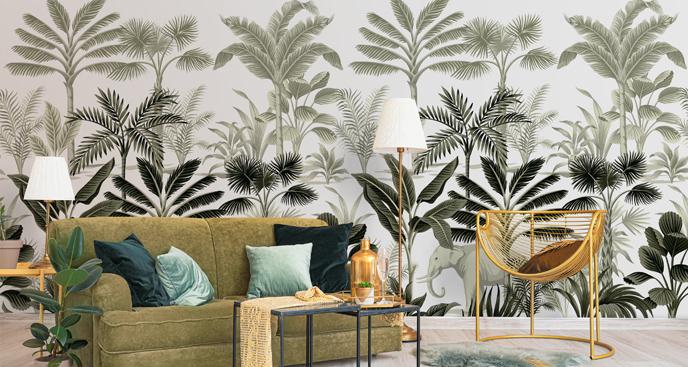 Fototapeta dżungla w stylu retro