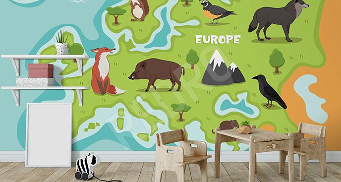 Fototapeta Europa dla dzieci