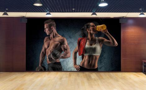 Fototapeta fitness do sali sportowej