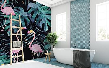 Fototapeta flamingi do łazienki