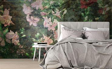 Fototapeta floral print do sypialni