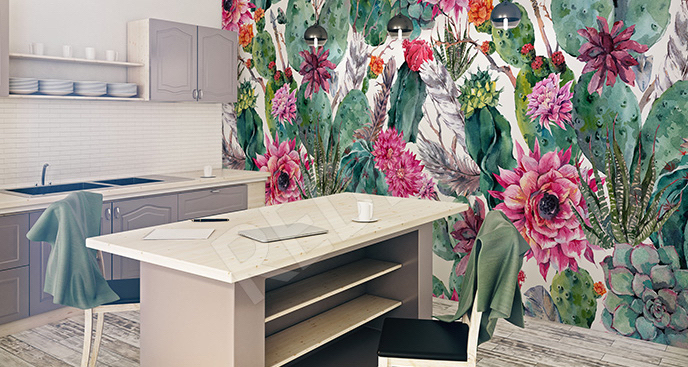 Fototapeta floral style egzotyczny