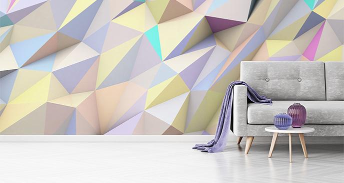 Fototapeta geometryczna abstrakcja 3D