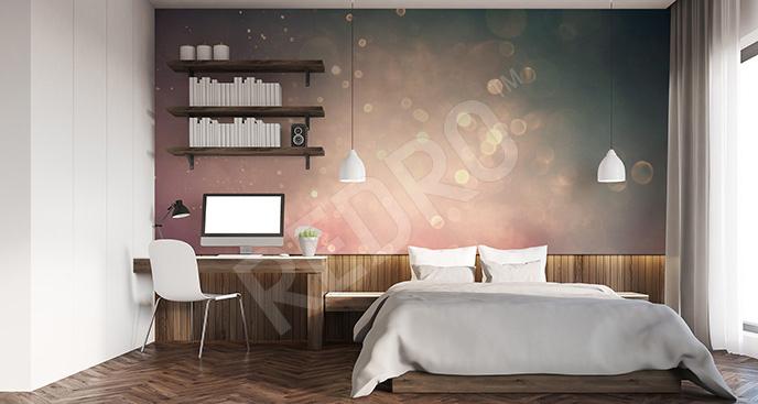 Fototapeta glamour w sypialni