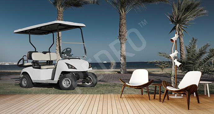 Fototapeta golf nad morzem