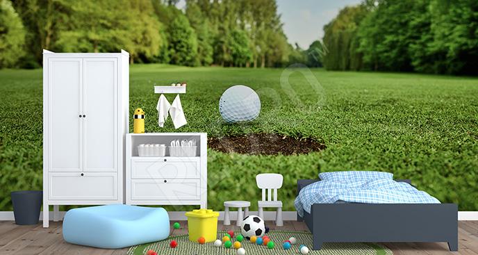 Fototapeta golf: zielone pole