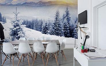 Fototapeta górski krajobraz zimą