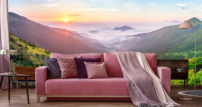 Fototapeta góry we mgle