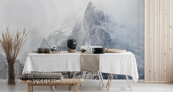 Fototapeta góry za mgłą
