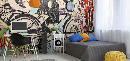 Fototapety graffiti i street art - sztuka uliczna we wnętrzu